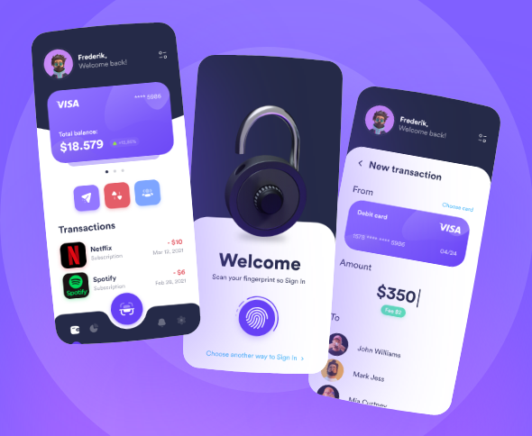 Bank UI design