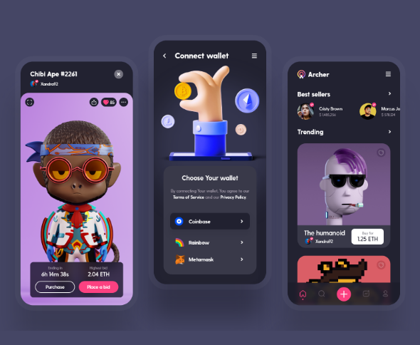 Archer - NFT market UI design
